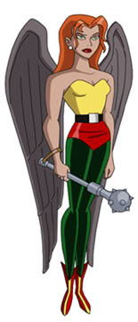 Hawk Girl Coloring Page