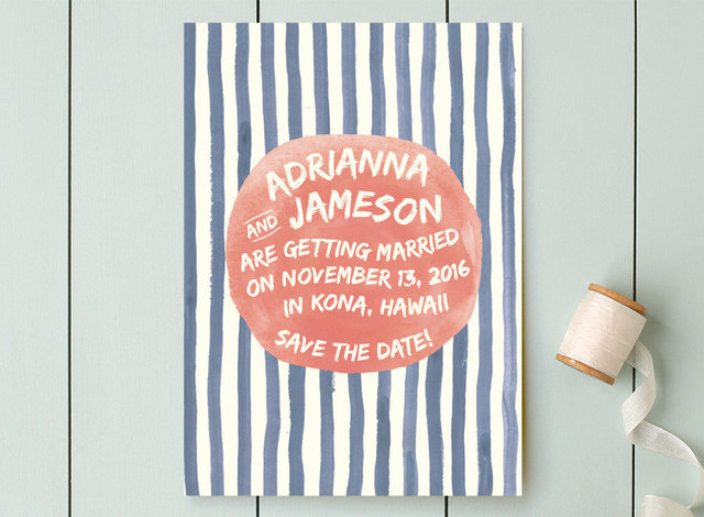 Minted Striped Save the Date