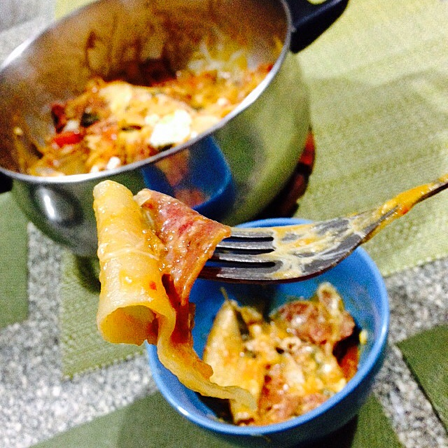 Why eat out on my birthday when I can cook One Pot Lasagna just to my liking? Mmm!