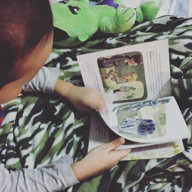 Bedtime stories make for keep weekend evenings sacred.