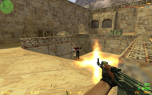 My husband and I used to play rounds of Counter-Strike when we were dating. We'd join network games where there'd be lots of players, but most times we just enjoyed a one-on-one game, hunting each other down. Haha! Romantic, huh?