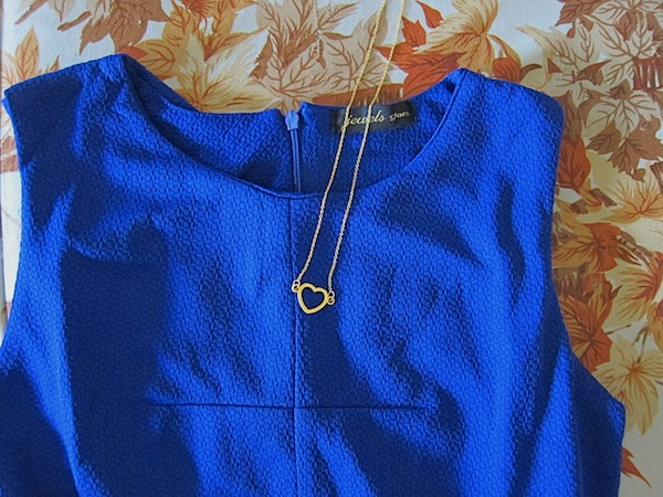 My Heyjow necklace was perfect with my royal blue dress.