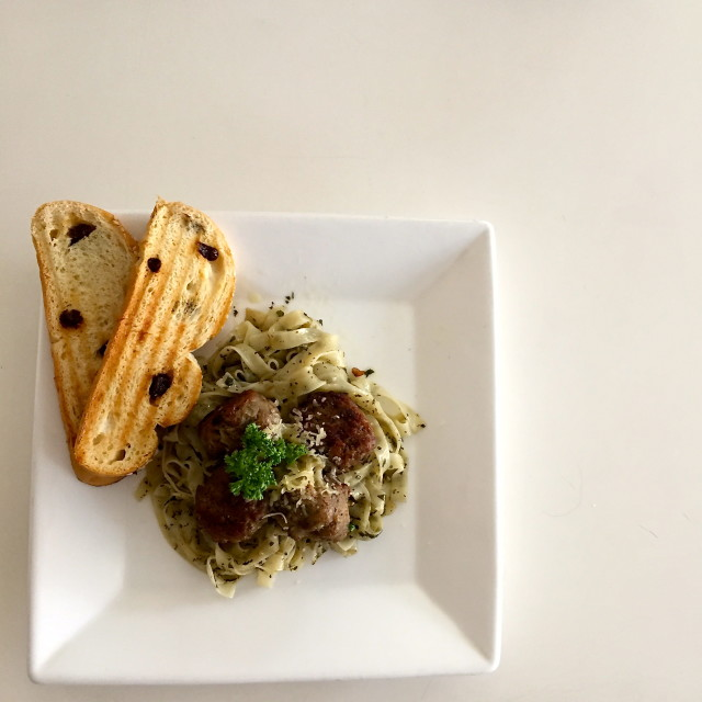 Meatballs with Pesto
