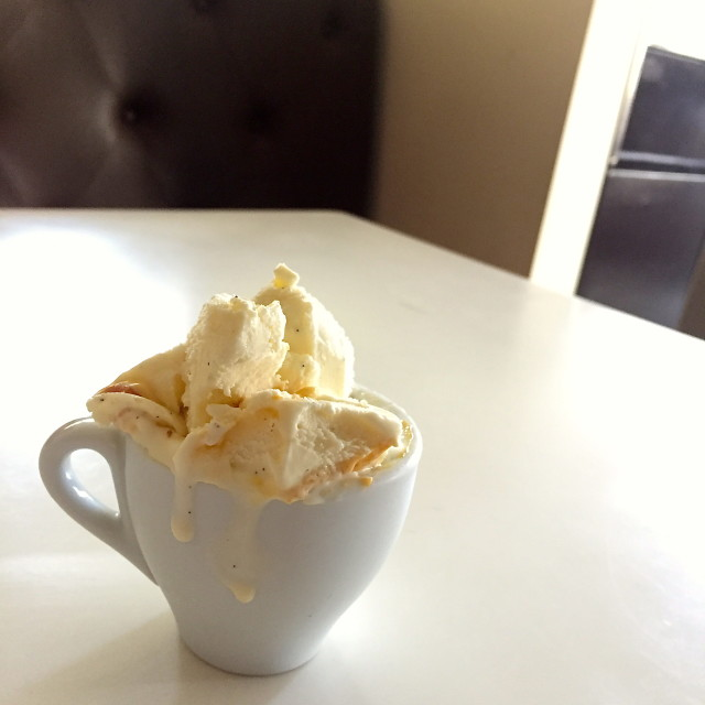 An espresso cup of Gelato from Bar Dolci.