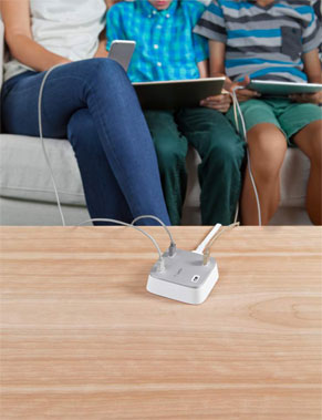 The Belkin Family RockStar 4-Port USB Charger has universal compatibility too!
